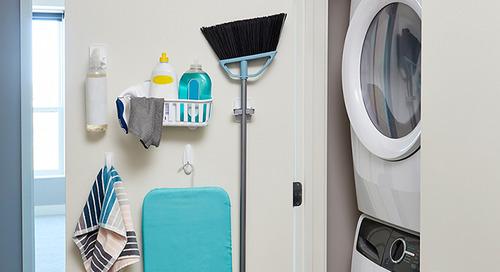 Les cinq essentiels pour garder votre petit espace propre et bien rangé
