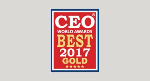 iQ Media Honored as a Gold Winner in the Annual 2017 CEO World Awards® for Product Innovation of the Year