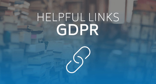 Helpful Links for GDPR