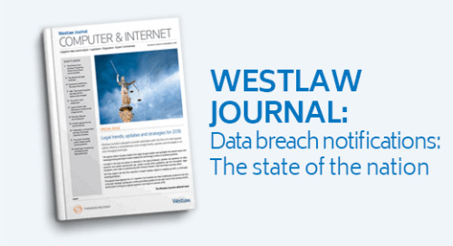 Westlaw Journal - Data breach notifications: The state of the nation