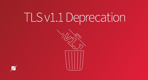 TLS v1.1 Deprecation