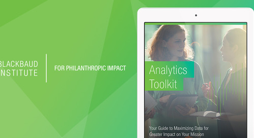 Blackbaud Institute's Analytics Toolkit Will Guide You