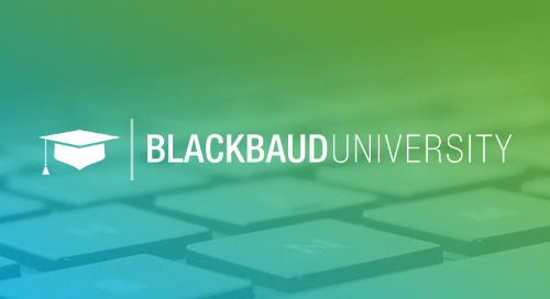 Jumpstarting Your Success with Blackbaud University