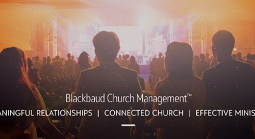 1/22/2020 Blackbaud Church Management Overview