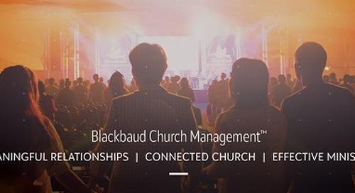 DATASHEET: Blackbaud Church Management™