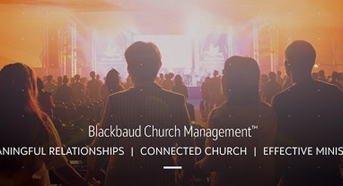 5/20 Live Webinar: Blackbaud Church Management