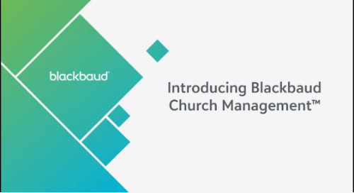 DEMO: Blackbaud Church Management