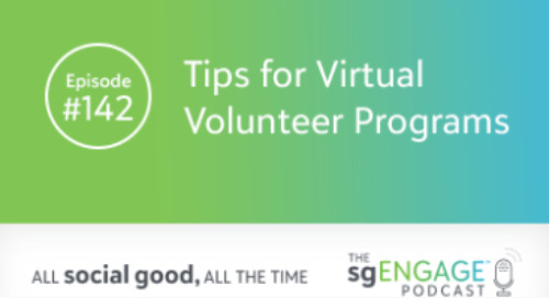 The sgENGAGE Podcast Episode 142: Tips for Virtual Volunteer Programs