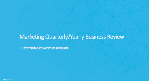 2018 Customizable Marketing Quarterly Business Review PowerPoint Template