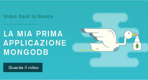 Back to Basics 3 - La mia prima applicazione MongoDB