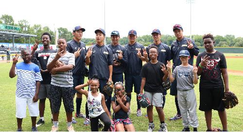 YKK sponsors USA Baseball Collegiate National Team vs Japan's Collegiate All-Star Team game in Macon, GA