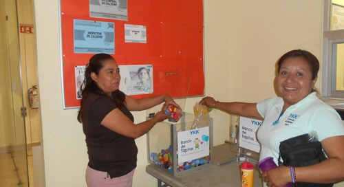 Employees at YKK Mexicana S.A. de C.V. participate in Banco de Tapitas initiative