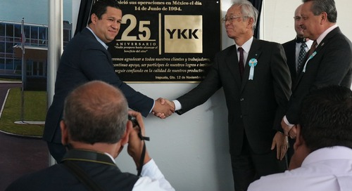 YKK Mexicana S.A. de C.V. fête ses 25 ans