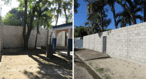 YKK El Salvador S.A. de C.V. builds a wall at a local school to protect students from crime