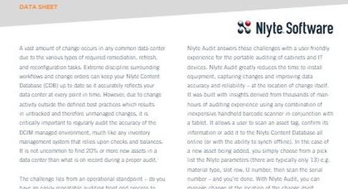 Nlyte Audit Data Sheet