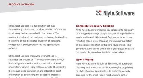 IT Asset Management Solutions - Nlyte Asset Explorer Product Overview