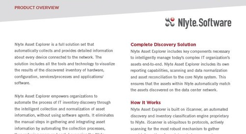 IT Asset Management Solutions - Nlyte Asset Explorer Product Overview