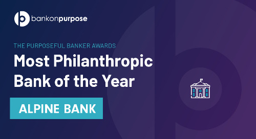 2020 Most Philanthropic Bank: Alpine Bank