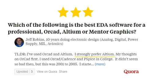 Which of the following is the best EDA software for a professional, Orcad, Altium or Mentor Graphics?