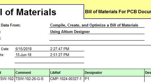 Creating a Bill of Material with PCB Design Software using Altium Designer