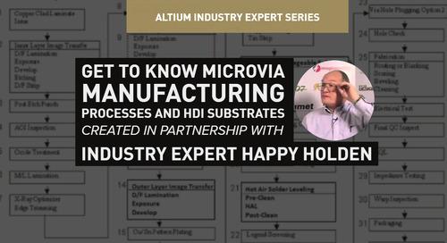 マイクロビア製造プロセスとHDI基板