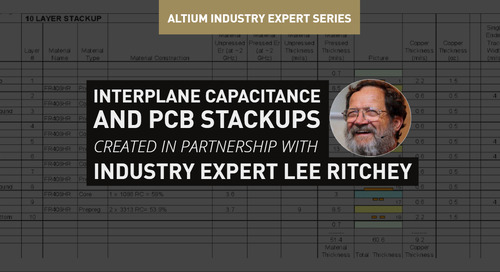 Interplane Capacitance and PCB Stackups
