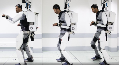 Paralyzed Man Walks with Aid of Mind-Controlled Exoskeleton