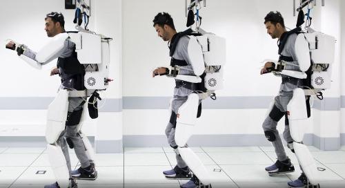 Paralyzed Man Walks with Aid of Mind-Controlled Exoskeleton