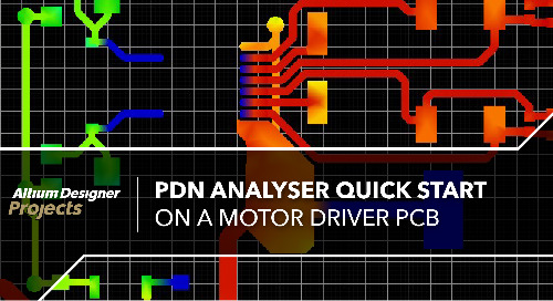 PDN Analyzer Quick Start on a Motor Driver PCB
