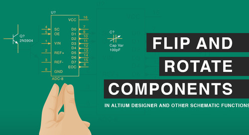 How Do I Flip and Rotate Components in Altium Designer and Other Schematic Functions
