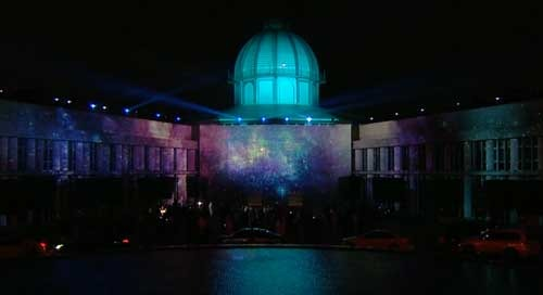Immersive projection mapping experience at GMIS in Abu Dhabi