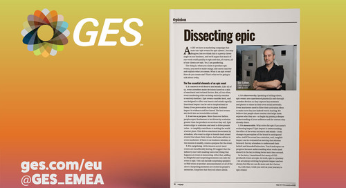 Dissecting epic: Five essential elements of an epic event