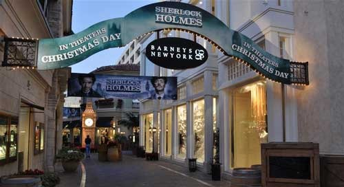 Warner Bros.' Sherlock Holmes Investigates the Grove in Los Angeles