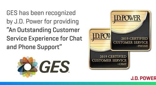 GES Achieves J.D. Power Certification for Chat and Phone Channels