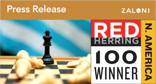 Zaloni Chosen as 2017 Red Herring Top 100 North America Winner