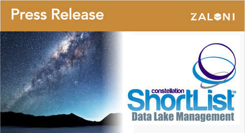 Zaloni Named to Q1 2018 Constellation ShortList™ for Data Lake Management