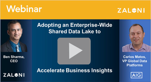 Adopting an Enterprise-Wide Shared Data Lake to Accelerate Business Insights