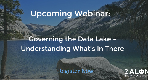 Webinar: Governing the Data Lake – Understanding What's In There