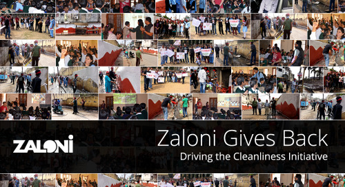 Zaloni Gives Back: Cleanliness Drive in India