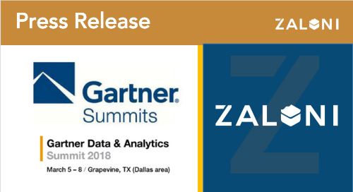 Zaloni to Present on Modernizing Data Platforms With Governed Data Lakes  at Gartner Data & Analytics Summit
