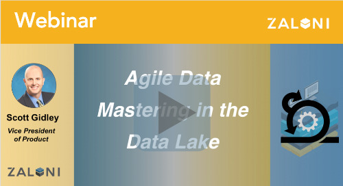 Agile Data Mastering in the Data Lake