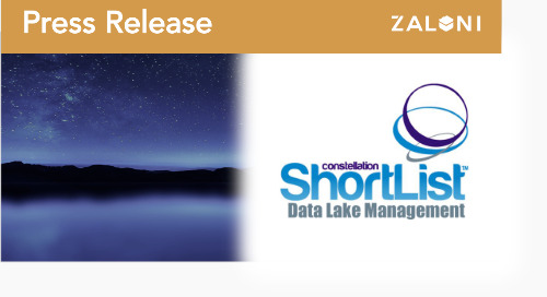 Zaloni Named to Constellation Q3 2018 ShortList™ for Data Lake Management