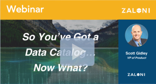 So You've Got a Data Catalog...Now What?