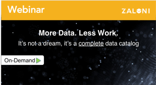 More Data, Less Work. It's not a dream, it's a complete data catalog