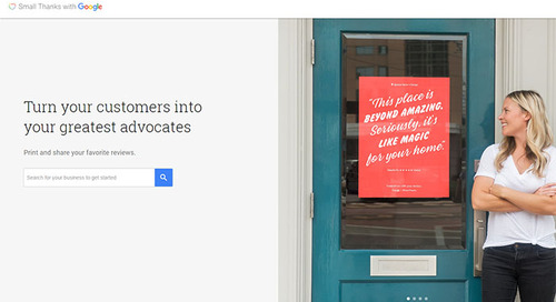 Small Thanks Takes Your Online Reviews into the Real World
