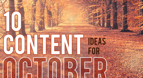10 Cool Content Ideas for October