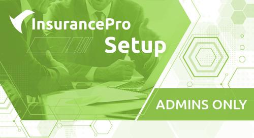 Training - InsurancePro Setup for Admins