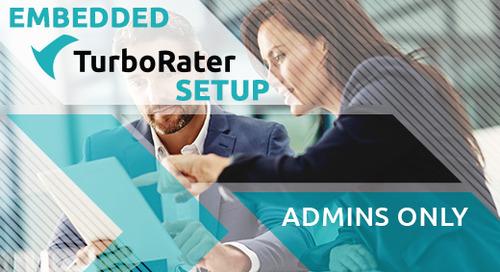 Training - Embedded TurboRater Setup for Admins