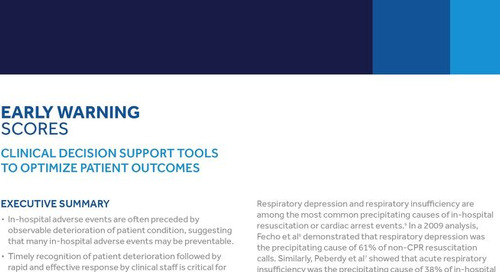 Early Warning Scores: Clinical Decision Support Tools to Optimize Patient Outcomes