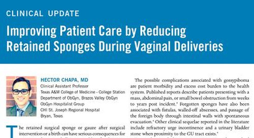 Improving Patient Care by Reducing Retained Sponges During Vaginal Deliveries